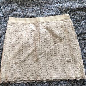Jcrew white eyelet skirt